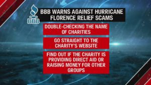 Hurricane Florence Scam