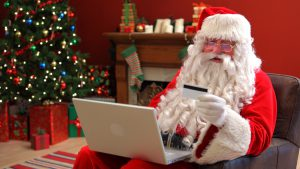 holiday shopping santa christmas security gift online internet