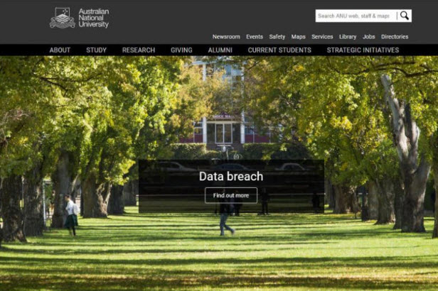 Australian National University data breach student exposed compromised hacked dark web stolen identity cybersecurity news security awareness training phish testing business