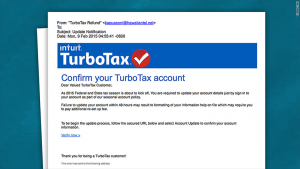 tax phishing emails
