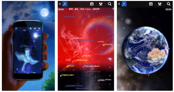 star chart app planets stars earth