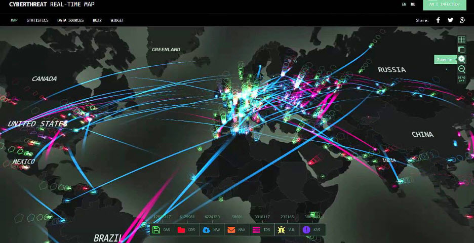 cyberthreat world wide cybersecurity security real time analytics awareness training education