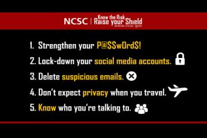 ncsc cybersecurity awareness hacked hacker security shield