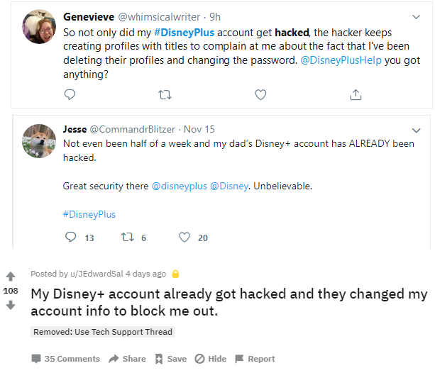 Disney Plus Accounts Hacked Within Hours Of Launch What Happened What You Should Do Prilock Inc